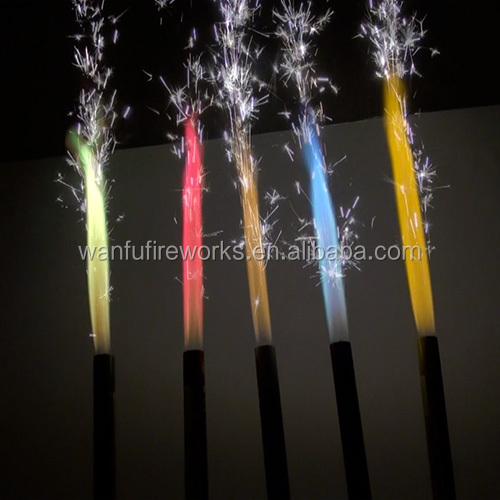 Birthday Cake Candles Fountain Fireworks View Birthday
