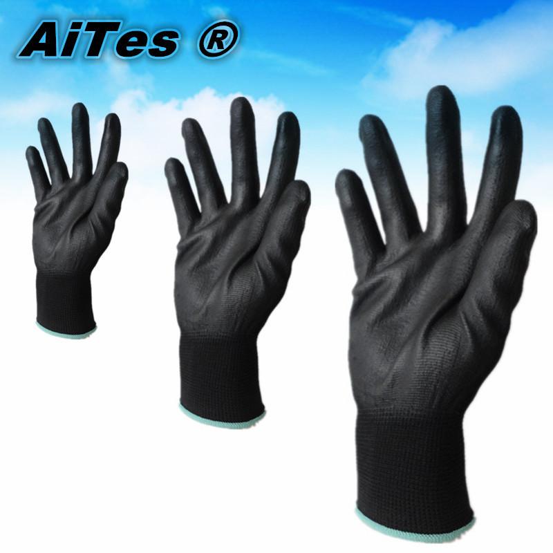 Aites 48 шт. / 24 пара защитный механик защитные рабочие перчатки покрытием ладони размер MXL точность Instriadul использования guantes construccion