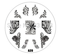 2015 new A Series A29 Nail Art Polish DIY Stamping Plates Image Templates Nail Stamp Stencil