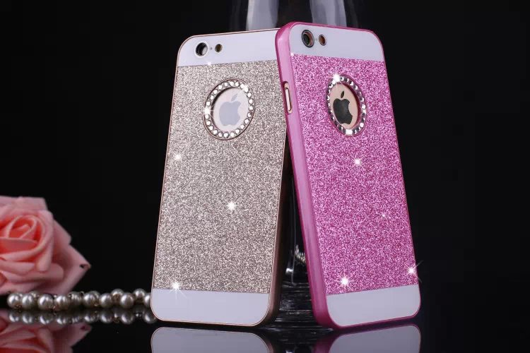 cheap for discount 307c5 d56c6 Wholesale-Bling Bling Fashion Shinning Case Glitter Protector Cell Phone  Back Cover For apple iphone 4 4s 5 5s 6 6s
