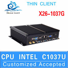 Best quality micro industrial pc Mini Computer station thin client X26-1037G support HD video