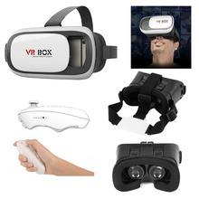 Google Cardboard 3D Movie Glasses VR BOX II 2.0 Version Virtual Reality 3D Galasses+Bluetooth Remote Controller