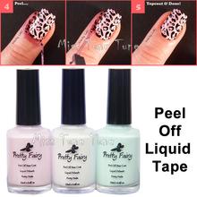 Nova atualização ingredientes 15 ml Nail Art Peel Off Palisade camada de Base líquido fita Manicure pele proteger fácil Stamping ferramenta