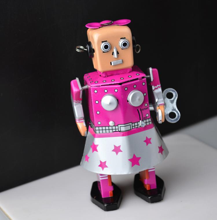 Aliexpress.com : Buy Retro Girls Iron Tin Robot Wind Up ...