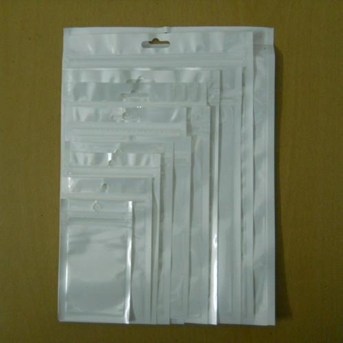 Sample Set White Clear Self Seal Zipper Plastic Retail