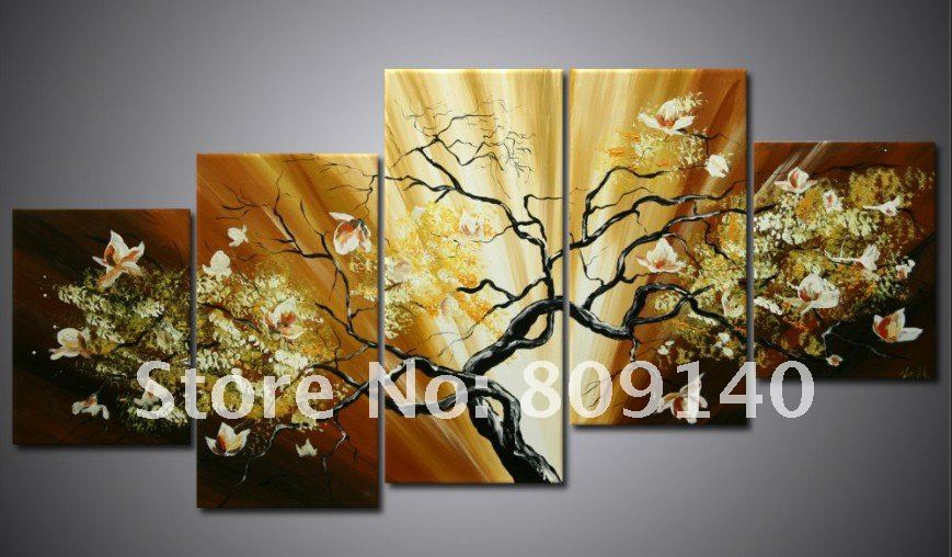 Oil painting canvas flower landscape modern home for Hotel wall decor