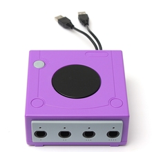 High Quality Controller Adapter Converter Purple For GameCube For Nintendo For Wii U 4 Gamepads Top Sale