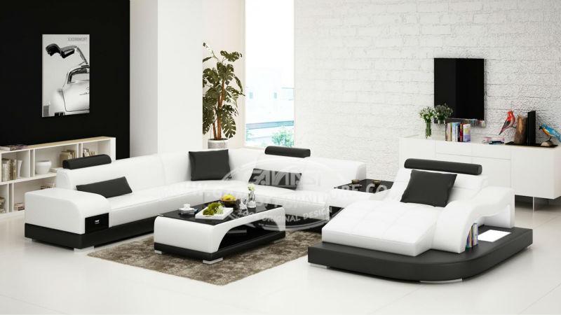 canap en cuir moderne situ canap cuir angle canap d angle arrondi pas cher canap salon id. Black Bedroom Furniture Sets. Home Design Ideas