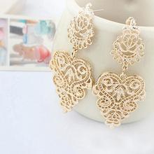 Retro Vintage Alloy Women Silver Golden Long Bohemian Pierced Dangle Earrings