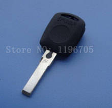 Free Shipping  key Blank Shell for Skoda FABIA SUPERB FELICIA OCTAVIA ROOMSTER Transponder Key