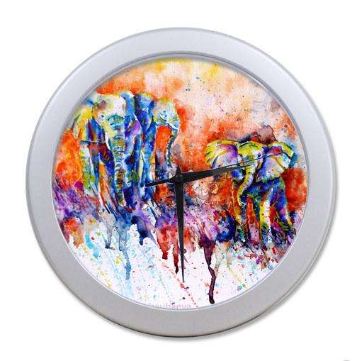 Original <font><b>Home</b></font> <font><b>Decoration</b></font> Customized The elephant <font><b>Elegant</b></font> Wall Clock Modern Design Watch Wall Free Shipping #-24dsgpr5