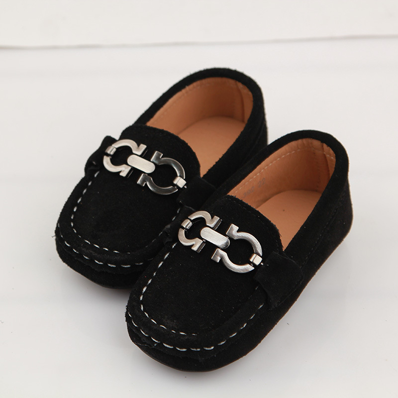 2016 Boys Moccasins Shoes Leather