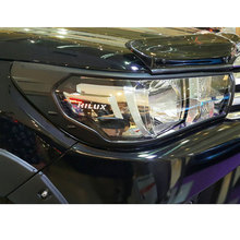 black toyota hilux revo 2016 accessories head lights cover for toyota hilux revo 2015+ basic version car hilux 2016 car styling