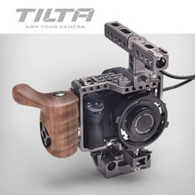 TILTA A7 Rig A7S A7S2 A7R A7R2 Camera Cage + Baseplate + Wooden Handle + Top Handle for SONY A7 Series Video Film Shooting