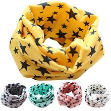 Bluelans Stars Children's Cotton Neckerchief Kids Boy Girl Scarves Shawl Unisex Winter Knitting kerchief Scarf