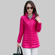 2015 New Ultralight font b Winter b font Women Down Jacket Slim Long Section Plus Size