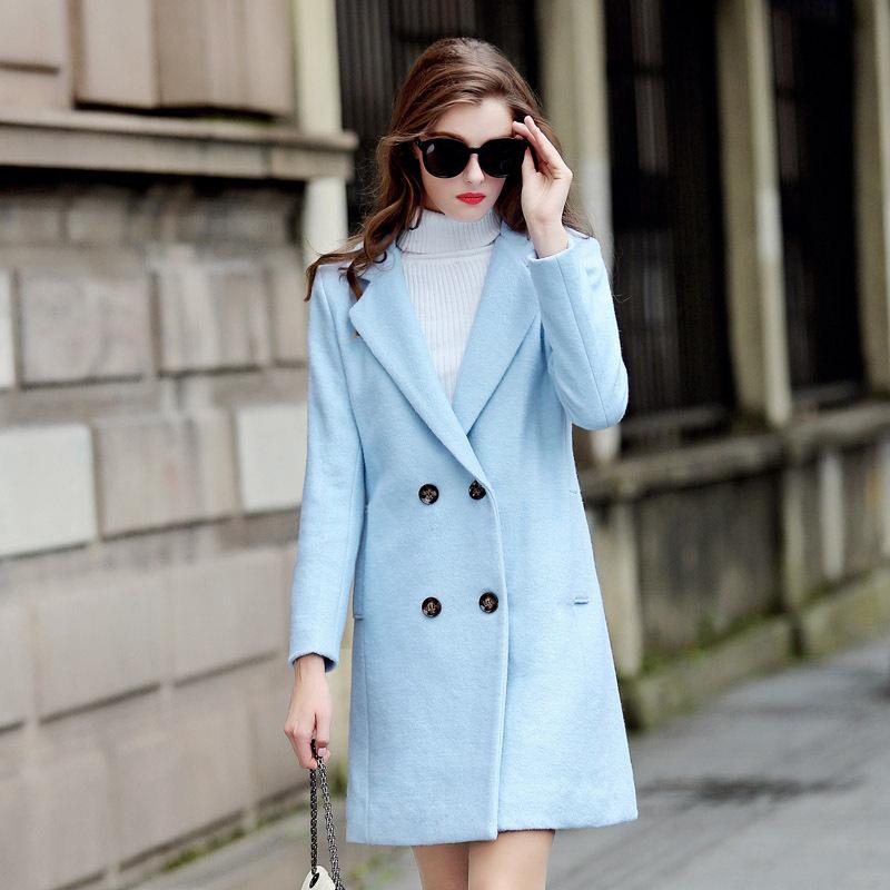 Women Woolen Coat 2015 Hot Sale Autumn And Winter Fashion