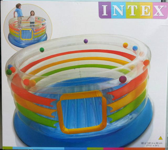 intex48264 gonflable trampoline multicolore musique saut. Black Bedroom Furniture Sets. Home Design Ideas