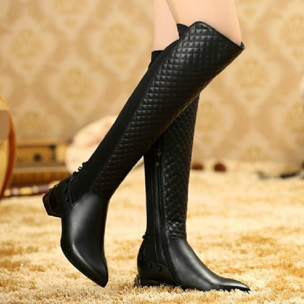 Ladies Black Over The Knee Boots Bsrjc Boots