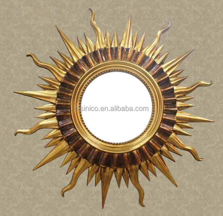 Old Fairy Tale Sun Shaped Wall Hanging Mirror Decorative