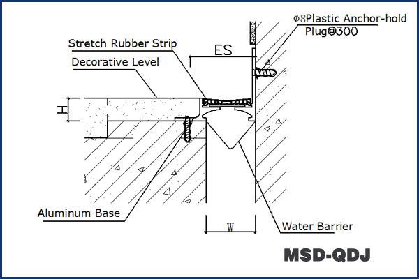 Snap Fit Design Metal Rubber Corner Concrete Expansion