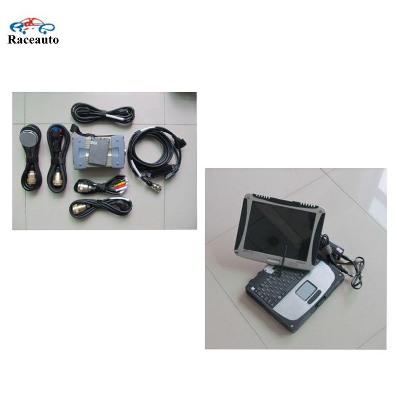 Toughbook CF-19 ноутбук звезды C3 MB диагностический инструмент + SD звезда C3 программного обеспечения 12 / 2014 В в 120 ГБ SSD супер-speed для автомобилей и грузовиков
