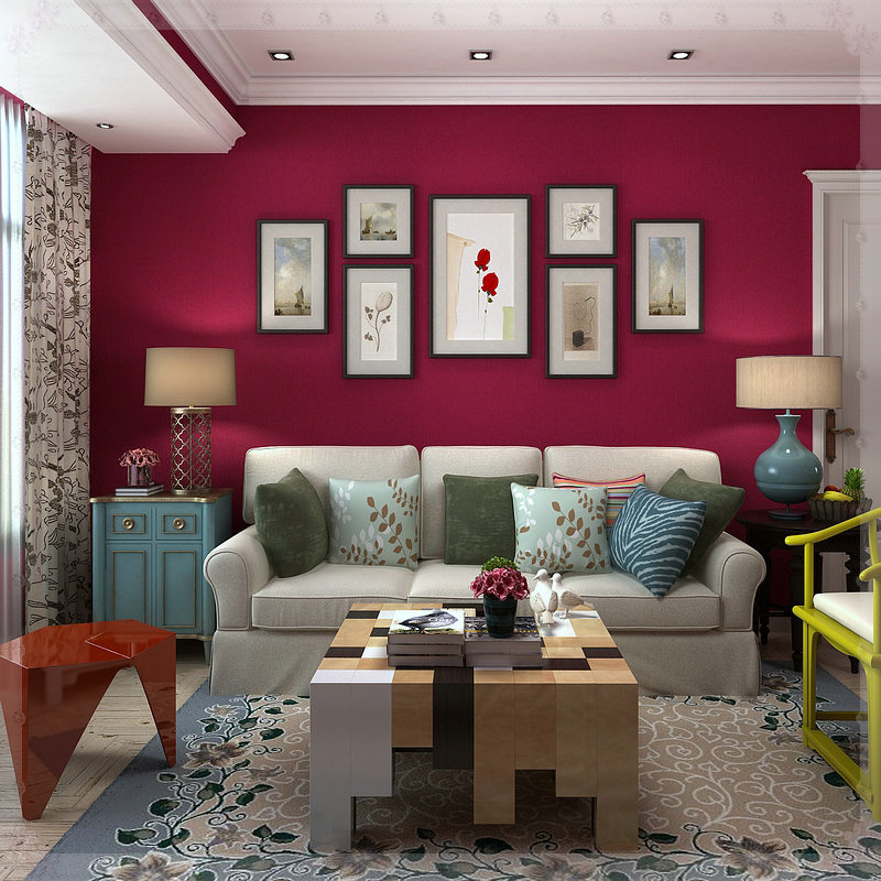 chambre salon mur de fond textures solides rose rouge papier peint uni textur cuivre dans fonds. Black Bedroom Furniture Sets. Home Design Ideas