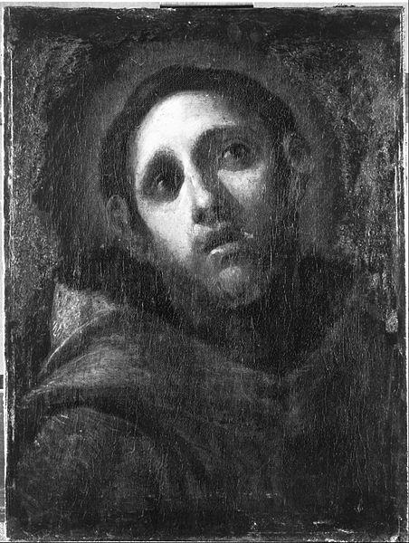 Canvas Art Prints Fabric Wall <font><b>Decor</b></font> Giclee Oil Painting <font><b>Italian</b></font> (bolognese) - Saint Francis
