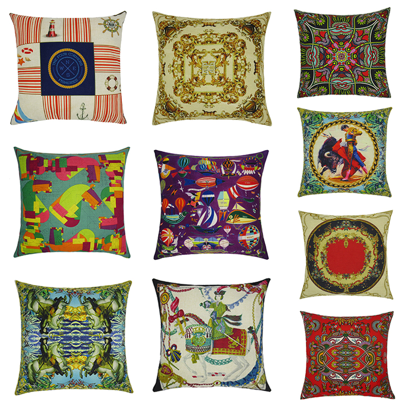 GGGGGO HOME,linen/cotton fabric bohemian nordic vintage home decoration cushion cover/throw pillow covers