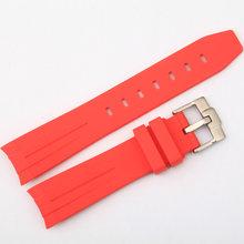 Резиновый мужской ремешок для часов 20 мм ремешок для часов для дайвинга, валик для часов ремешок с пряжкой для часов(Китай)