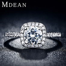 Engagement rings for women White gold Filled wedding ring CZ diamond jewelry Trendy bague luxury bijoux accessories YJR035