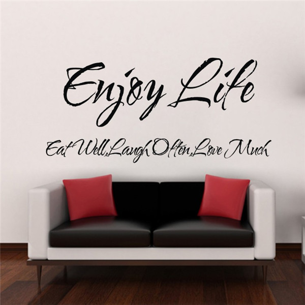 Enjoy Life Inspirational Vinyl Quote Home Decor Blackboard