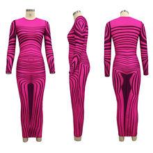 Сексуальное облегающее летнее платье с длинным рукавом, элегантное прозрачное Сетчатое Бандажное платье с принтом, как у знаменитостей, но...(Китай)