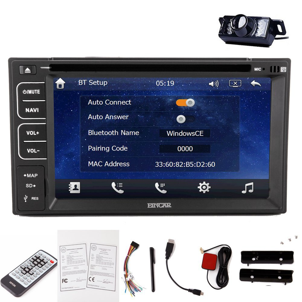 rear view backup camera include system with 6 2 inch touch screen in dash navigation tablet pc. Black Bedroom Furniture Sets. Home Design Ideas