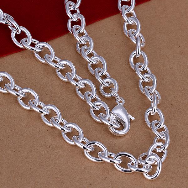 Поощрение цена, Мода ювелирных изделий, Креветок пряжки мужская звеньев цепи ожерелье, Оптовая продажа серебряные ювелирные изделия, Рождественский подарок