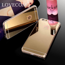New Ultra Slim Gold Mirror Case For Iphone 5 5S Luxury Aluminum Acrylic Soft TPU Protective Back Cover YC896