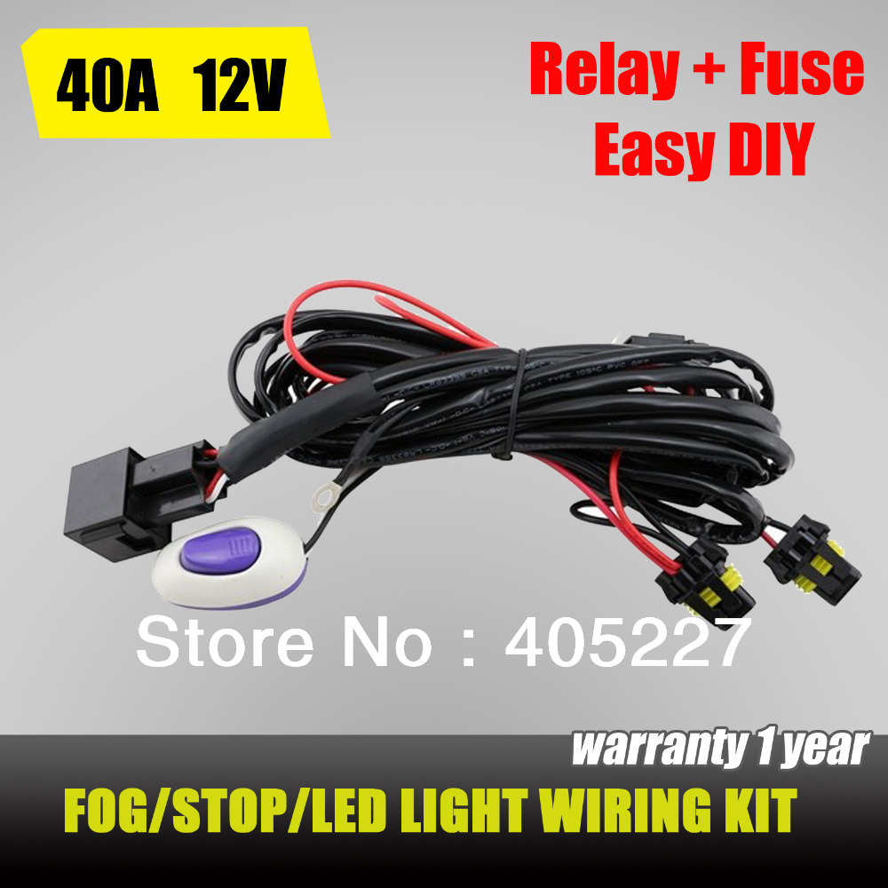 Awhr15a Universal Led Work Light Wiring Harness With Switch