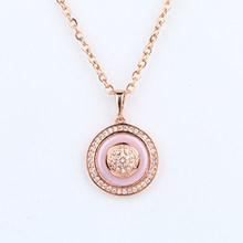 Женское винтажное ожерелье с подвеской из розового золота 585 пробы, массивное керамическое ожерелье, элегантное Подарочное ювелирное издел...(Китай)