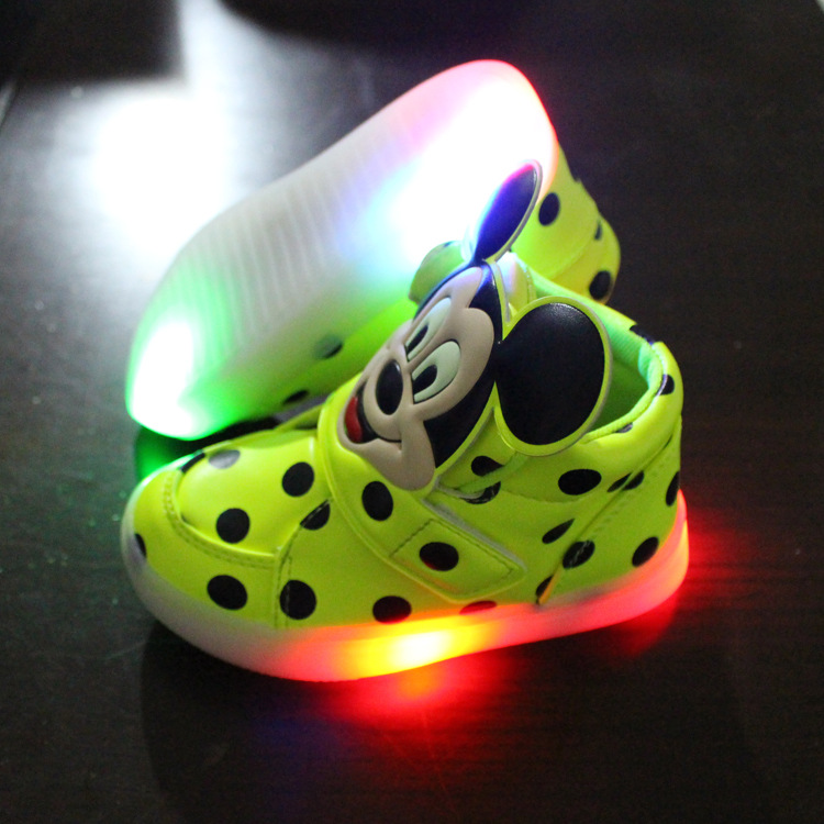 2016 New European fashion cute LED lighting children shoes hot sales Lovely kids sneakers high quality