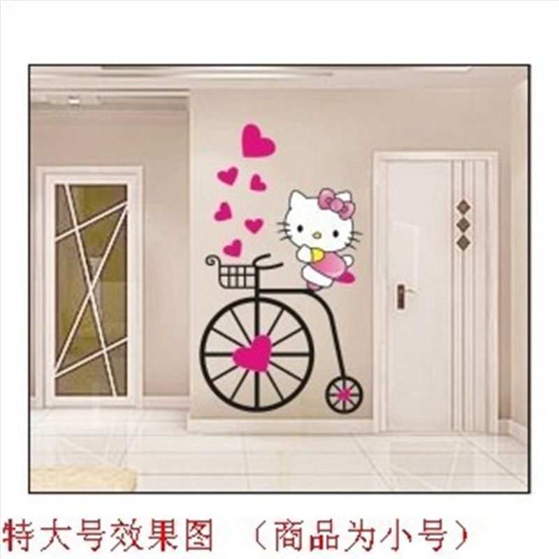 Hello Kitty Home Decor: HELLO KITTY Cartoon Wall Stickers For Kids Rooms Girls