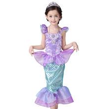 The Little Mermaid font b Fancy b font Kids Girls font b Dresses b font Princess