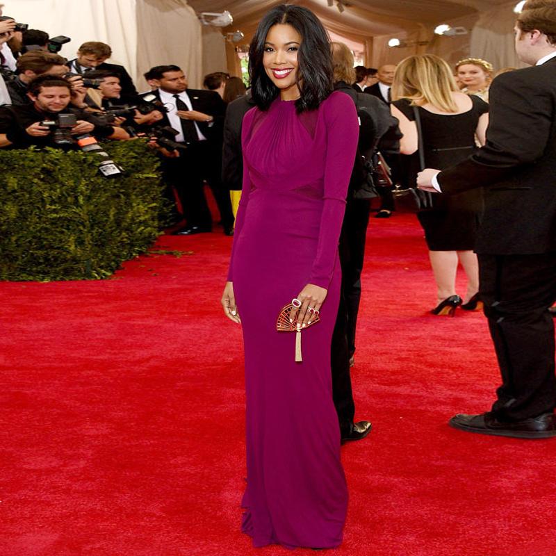 0fd0dd3f337 Popular long sleeve red carpet dress buy cheap long sleeve Long elegant red  carpet dresses