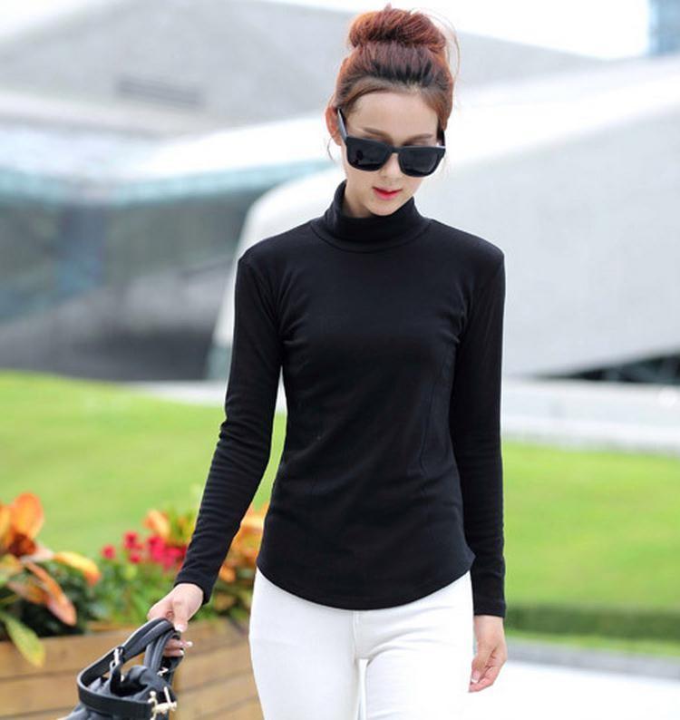 נשים אביב סתיו חורף הסריגה סוודר עם צווארון גולף לסרוג סוודרים נשים שרוול ארוך לעבות את הסוודר בתוספת גודל מ-XXXXL