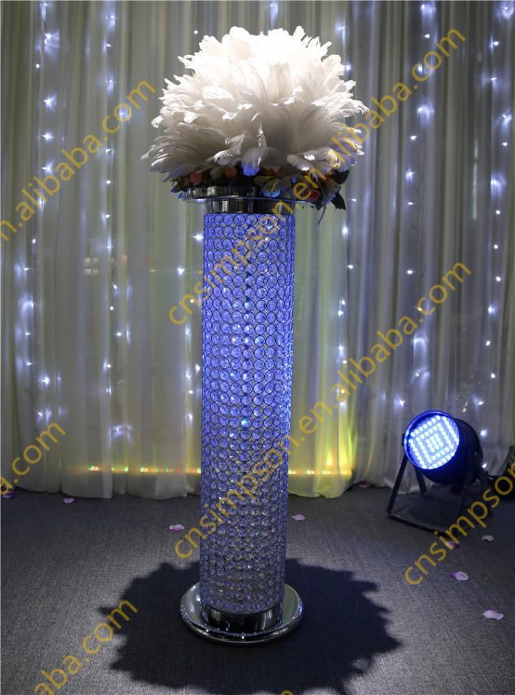 Tall Wedding Crystal Pillar Stand Amp Flower Stand