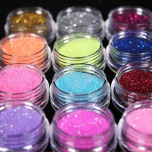 12 Color Set Pigments For Nails Acrylic Powder Glitter Nail Polish Color Acrylic Powder Nail Powder