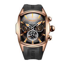 Дизайнерские спортивные часы Reef Tiger/RT с турбийоном, из нержавеющей стали, с резиновым ремешком и синим циферблатом, автоматические часы RGA3069(Китай)