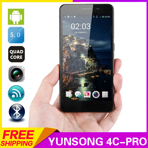 YUNSONG 4C-Pro 5inch Smartphone Android5 1 MTK6580 Quad Core