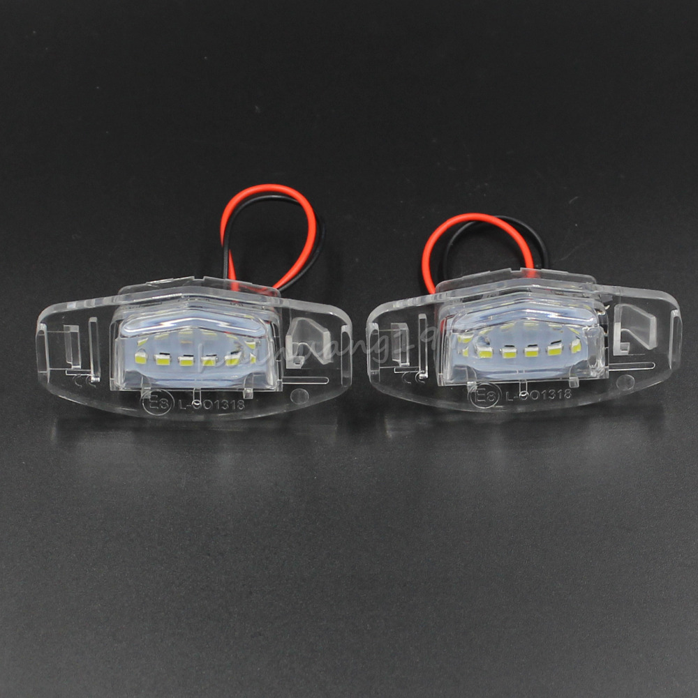 2 PCS 3528SMD 18LED Number License Plate Light Bulb For
