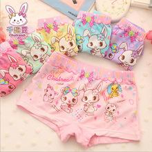 2015 new arrival cotton children s underwear girls boxer Modal Modal boxer underwear female rabbit kids