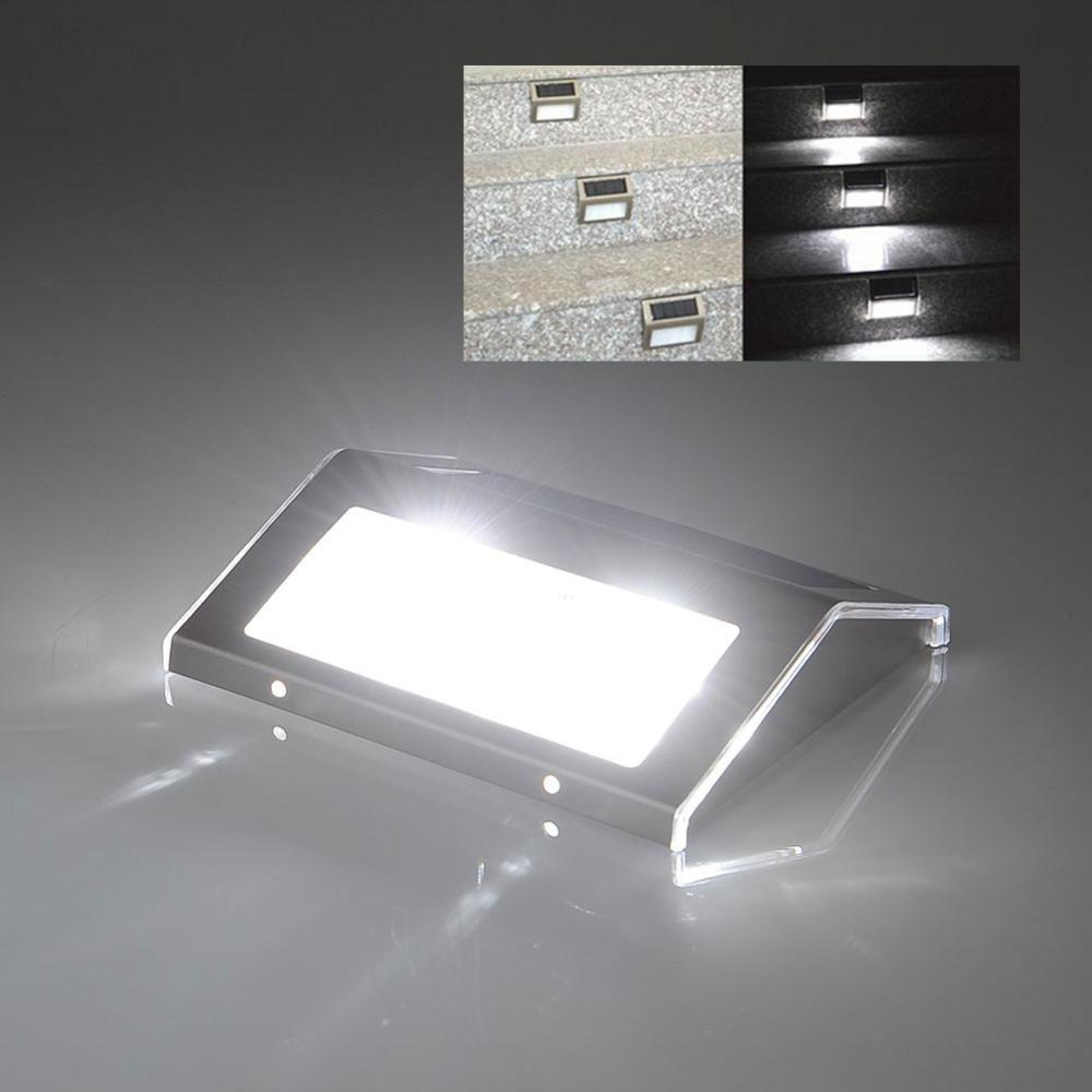 Driveway Night Lights: 2LED Solar Powered Stainless Steel Outdoor Stairs Recharge